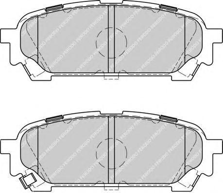 Колодки тормозные дисковые Ferodo, комплект. FDB1861FDB1861