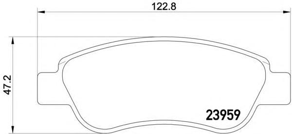 Колодки тормозные дисковые Textar, комплект. 23959012395901