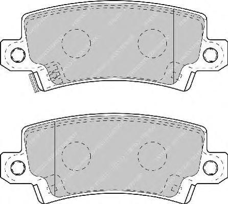 Колодки тормозные дисковые Ferodo Premier. FDB1574FDB1574