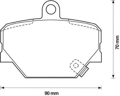 Колодки тормозные дисковые Jurid. 571995J571995J