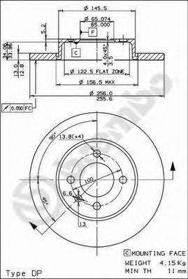 Диск тормозной Brembo, передний, 2 шт. 08.5149.1408.5149.14