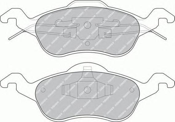 Колодки тормозные дисковые Ferodo Premier. FDB1318FDB1318