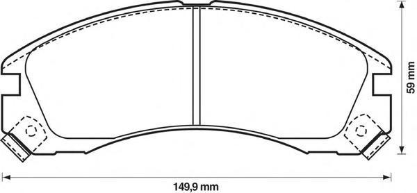 Колодки тормозные дисковые Jurid. 572370J572370J
