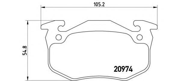 Колодки тормозные дисковые Brembo. P61032P61032