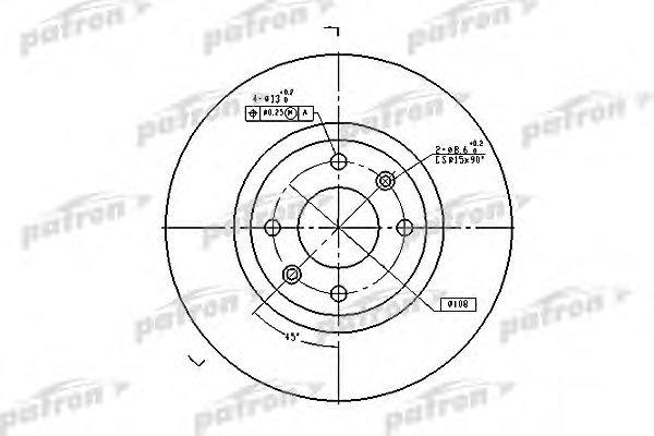 Диск тормозной Patron, передний, 2 шт. PBD4183PBD4183