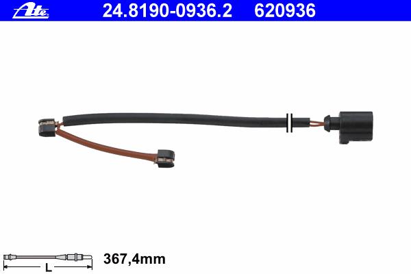 Датчик износа тормозных колодок Ate, комплект 2 шт. 24.8190-0936.224.8190-0936.2