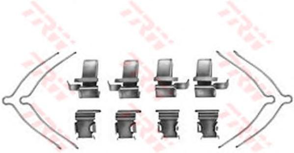 Комплект монтажный TRW, для тормозных колодок. PFK361PFK361