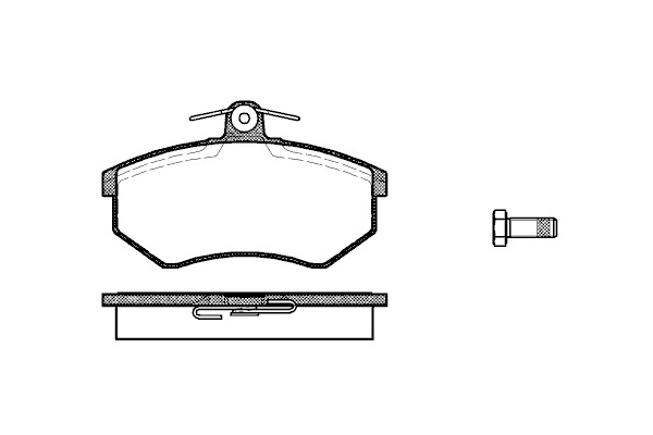 Колодки тормозные дисковые Remsa, комплект. 1340013400