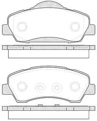 Колодки тормозные дисковые Remsa, передние. 153000153000