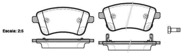 Колодки тормозные дисковые Remsa, комплект. 143502143502