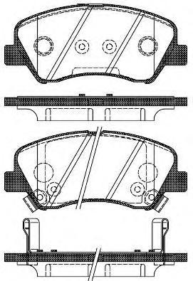 Колодки тормозные дисковые Remsa, передние. 148802148802