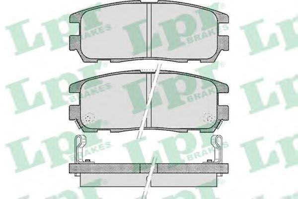 Колодки тормозные дисковые LPR / AP. 05P52405P524