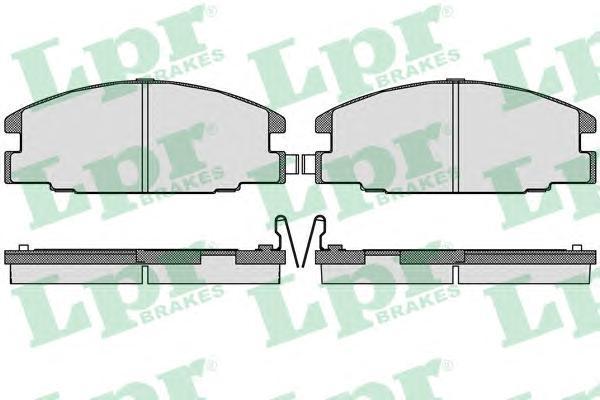 Колодки тормозные дисковые LPR / AP. 05P54405P544