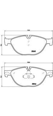Колодки тормозные дисковые Brembo, передние. P06076P06076
