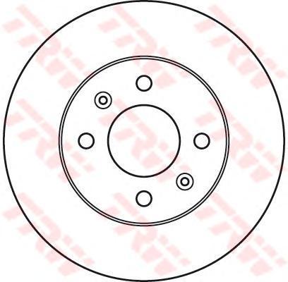 Диск тормозной Trw, 2 шт. DF6040DF6040