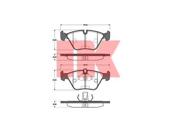Колодки тормозные дисковые NK. 221519221519
