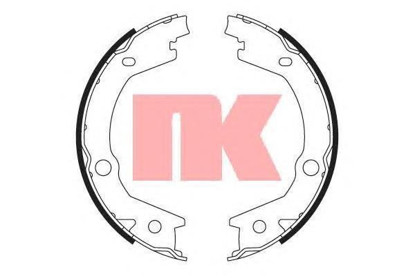 Колодки тормозные дисковые NK. 27347452734745