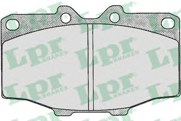 Колодки тормозные дисковые LPR / AP. 05P20205P202