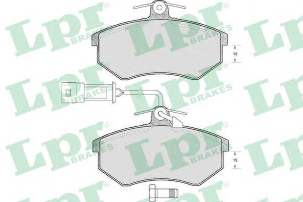 Колодки тормозные дисковые LPR / AP. 05P22105P221