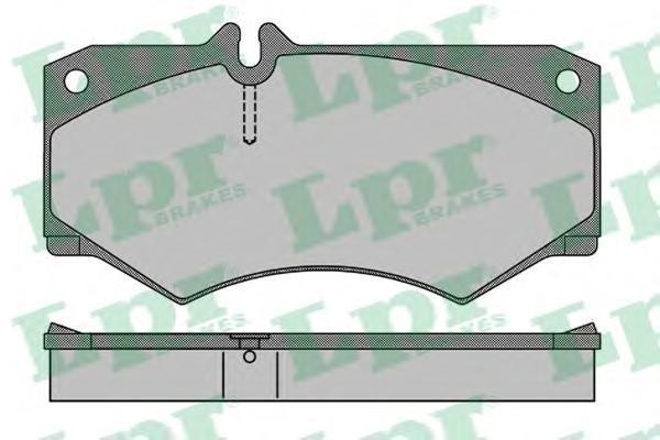 Колодки тормозные дисковые LPR / AP. 05P40805P408