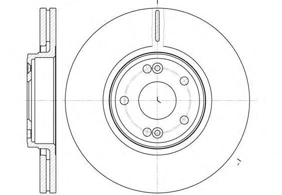 Диск тормозной Remsa, 2 шт. 661210661210