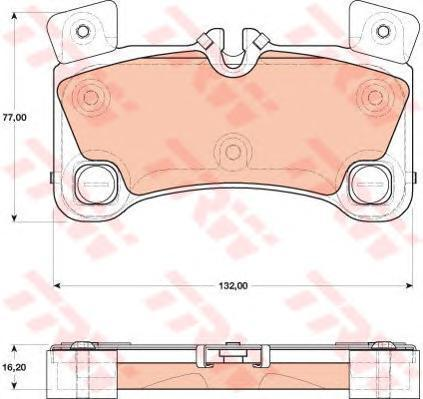 Колодки тормозные дисковые TRW. GDB1775GDB1775