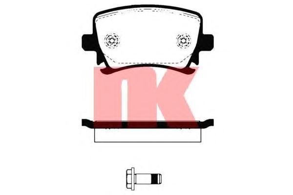 Колодки тормозные дисковые NK. 224775224775