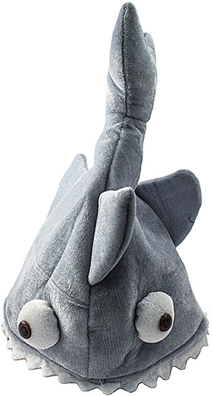 Шляпа карнавальная Эврика Рыба96865Удивительный карнавальный костюм – хищная рыба, широко раскрывшая пасть, будто бы пытается откусить голову тому, кто ее надел. Повecелите друзей: аттракцион укрощения плюшевых хищников они наверняка запомнят надолго!Диаметр окружности 23 см глубина шапки 20 см.