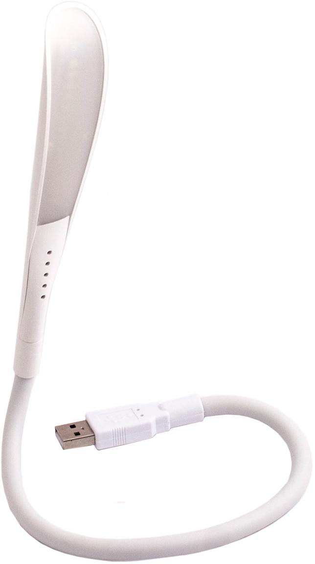 """Светодиодный светильник """"Эврика"""" на гибкой ножке имеет USB-разъем, благодаря которому легко подключается к ноутбуку, компьютеру или разветвляющему устройству.  Небольшая, но яркая лампа позволит подсветить клавиатуру или экран в условиях недостаточной видимости.  Размеры светильника: 45 х 3 х 2 см."""