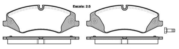 Колодки тормозные дисковые Remsa, комплект. 140900140900