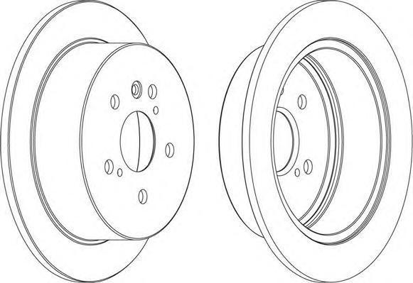 Диск тормозной Ferodo, задний, 2 шт. DDF1545DDF1545