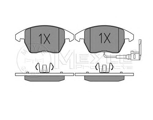 Колодки тормозные дисковые Meyle. 0252358720/W0252358720/W