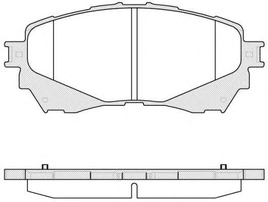 Колодки тормозные дисковые Remsa, передние. 153804153804