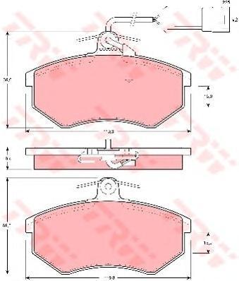 Колодки тормозные дисковые TRW. GDB404GDB404