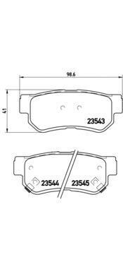 Колодки тормозные дисковые Brembo, задние. P30014P30014