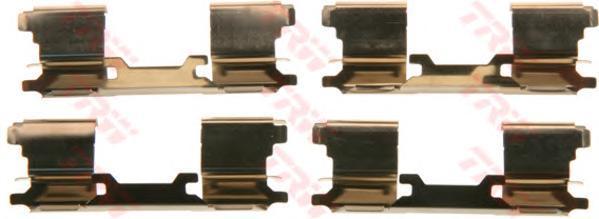 Комплект монтажный TRW, для тормозных колодок. PFK599PFK599