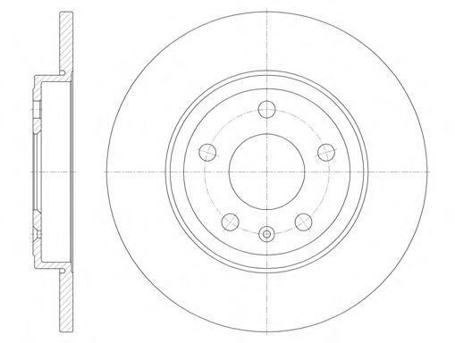 Диск тормозной Remsa, 2 шт. 61011006101100