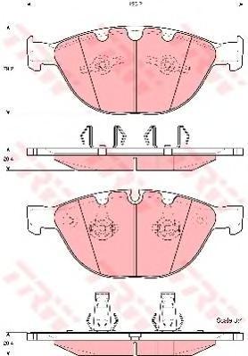 Колодки тормозные дисковые TRW. GDB1558GDB1558