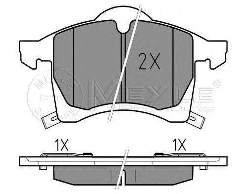 Колодки тормозные дисковые Meyle. 0252305719/W0252305719/W
