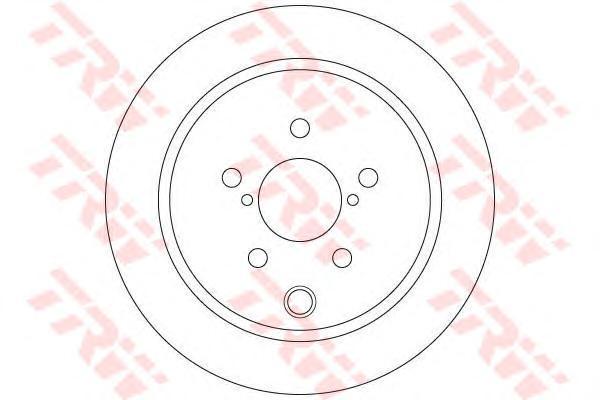 Диск тормозной Trw, задний, 2 шт. DF6503DF6503