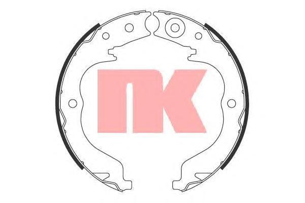 Колодки тормозные барабанные NK, для ручного тормоза. 27197572719757