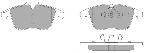 Колодки тормозные дисковые Fremax, комплект. FBP-1496FBP-1496