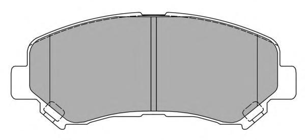 Колодки тормозные дисковые Fremax, комплект. FBP-1585FBP-1585