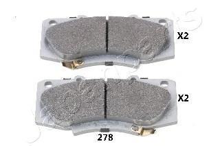 Колодки тормозные дисковые Japanparts, комплект. PA-278AFPA-278AF