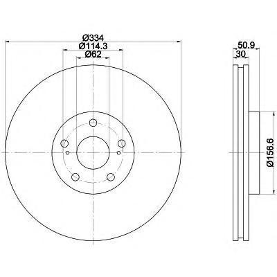 Диск тормозной Behr-Hella. 8DD355112-8618DD355112-861