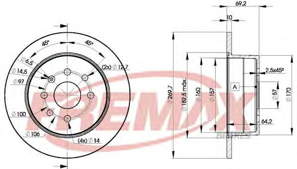 Диск тормозной Fremax, 2 шт. BD-9209BD-9209