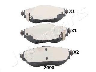 Колодки тормозные дисковые Japanparts, комплект. PA-2000AFPA-2000AF