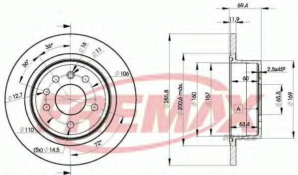 Диск тормозной Fremax, 2 шт. BD-9211BD-9211