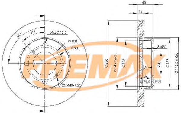 Диск тормозной Fremax, 2 шт. BD-9282BD-9282