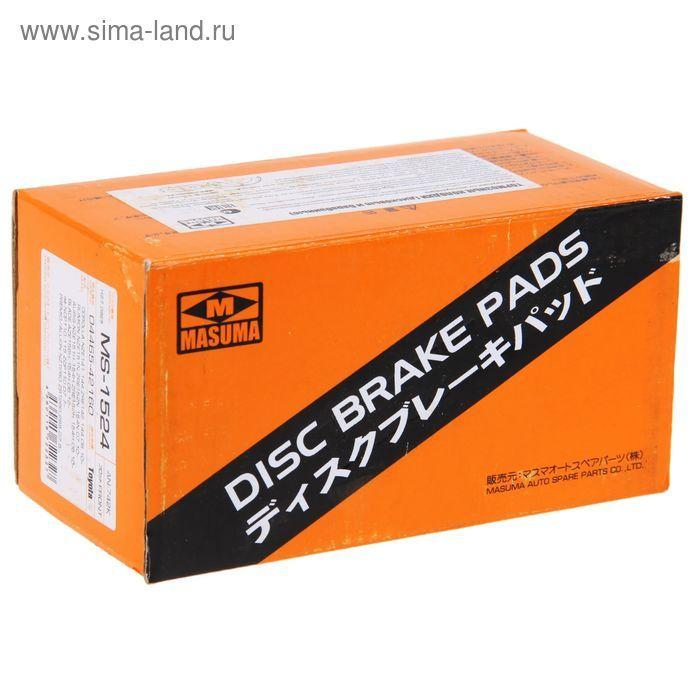 Колодки тормозные дисковые Masuma. MS-1524MS-1524